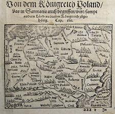 Original vor 1800 Ansichten & Landkarten von Europa aus Polen