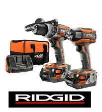 RIDGID 18v 18 VOLT LITHIUM GEN5X BRUSHLESS IMPACT DRIVER/HAMMER DRILL KIT R9205