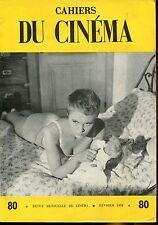 CAHIERS DU CINEMA N°80 de 1958..JEAN RENOIR..LA SCIENCE FICTION .CINEMA POLONAIS