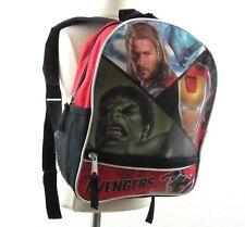 The Avengers Backpack Thor Hulk Iron Man Captain America Adjustable Straps Small