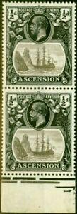 Ascension 1924 1/2d Grey & Black SG10B Torn Flag Fine VLMM in Pair with Normal