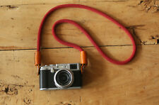 Windmup Handmade red climbing rope brown leather Best Camera Strap