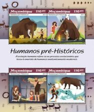 Mozambique - Postfris/MNH - Sheet Prehistoric Humans 2019