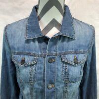 TALBOTS Button Front Lightweight Denim Jean Jacket Shirt Small Petite M24