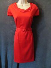 NWT Merona 2010 60's Retro Red Knit Cowl Cap Sleeve Belt Wiggle Sheath Dress 12