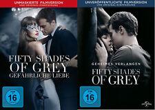 Fifty Shades of Grey 1 + 2 [2x DVD]  *NEU* Unmaskierte Filmversion 50 I & II