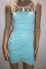 EF Brand Light Blue Ruched Sleeveless Party Dress Size S BNWT #TQ16