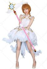 Cardcaptor Sakura Kinomoto Ice Snow Angel Cosplay Costume