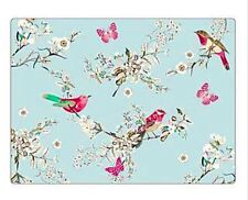 Set of 4 Placemats & Coasters Table Place Settings Mats Shabby Chic Birds Home