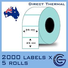35 x 25 mm 10,000pcs for Zebra, TSC, Datamax Barcode Label Roll Sticker Lables