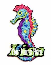 Seahorse Custom Iron-on Patch With Name Personalized Free