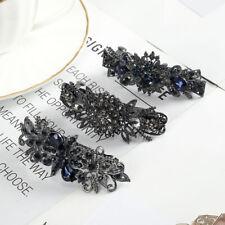 Vintage Ladies Crystal Hair Clips Grips Hairpins Barrette Hair Slide Accessories