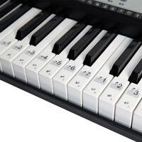 88/61/54 Key Electronic Keyboard Key Sticker Transparent Piano Keyboard Sticker