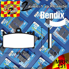 BENDIX 131-MRR ROAD RACE RACING TRACKDAY FRONT BRAKE PADS SUZUKI GSF1250 SA 2011
