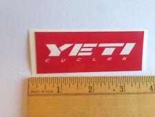 "3 7/16"" Yeti Cycles Red/White Axe Mtb Bicycles Bike Frame - Sticker Decal"