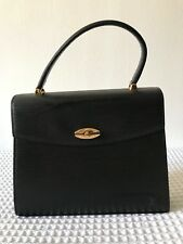 LOUIS VUITTON BAG MALESHERBES BLACK EPI VINTAGE TOP HANDLE USED CONDITION