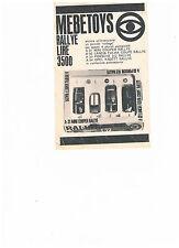 advertising pubblicita' MEBETOYS RALLYE  -- 1968