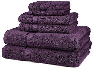 6 Piece Cotton Bath Towel Set