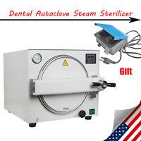 18L! 900W Medical Steam Autoclave Sterilizer Dental Lab Equipment +Curing Light