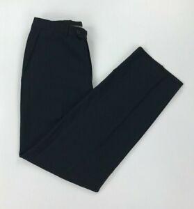 Men's Dark Navy Blue Armani Collezioni Suit Trousers 50R W32 L32 Wool Straight A