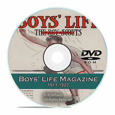 Boys Life Magazine, (Boy Scouts Reading) 1911-1922, 140 back issues, CD DVD V63