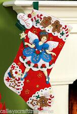 "Bucilla Fairy Sweet ~ 16"" Felt Christmas Stocking Kit #86439, Sugar Plum, Candy"