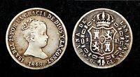 1 Real 1848 CL M. (Madrid). Espagne. Argent