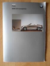 BMW CS1 concept car ORIG Brochure Press kit complet de Genève montrent 2002