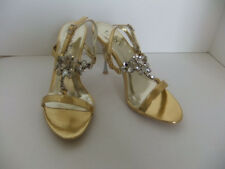 Pleaser Luxe Jewel 16 Gold Sandal Heels Size 8 Holiday Dressy Formal Sexy