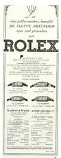 Publicité ancienne bijoux montres ROLEX  1933  Wallace et Draeger