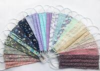 Handmade 100% Cotton Face MaskWashable Reusable  Pocket for filter Pink