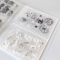 80 Pcs Clear Stamps & Die Storage Box Seal Album Pocket Holder Organizer Crafts