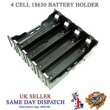 DIY 4 cell 18650 Li-Po Batt Plastic Holder 3.7V PCB Battery Mount Case 3.6V Box