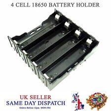 Hágalo usted mismo 18650 de 4 Celdas Li-Po Batería Soporte de plástico 3.7V Batería Montaje De PCB Case 3.6V Caja