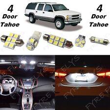 18x White LED lights interior package kit for 1992-1999 4 door Tahoe/Yukon CT7W