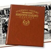 Personalised Chelsea FC Newspaper Football Book Fan Memorabilia Gift