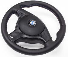 VOLANT gainé de Cuir volant en cuir BMW E46 M Volant avec écran et airbag