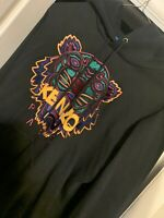 Kenzo Men's Embroidered Tiger Popover Hoody/Hoodie (Black) Size Large