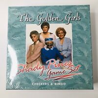 The Golden Girls Shady Pines Game Set: Checkers & Bingo NEW SEALED!