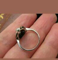 Vintage Art Deco Engagement Ring Three Stone 14K White Gold Over 3.5 Ct Diamond