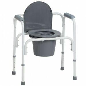 Sedia Comoda WC e Rialzo per WC ausilio medico iva 4% disabili e anziani