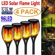 More details for 4x 96 led torch solar light patio garden dancing light flickering flame lamp