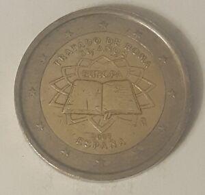 2 Euro Commémorative Espagne 2007 -Traite de Rome-CIR-Qualité Superbe