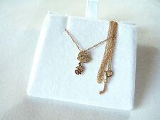 VIDA-  14k Yellow & Rose Gold Diamond 'Butterfly' Pendant & Necklace