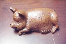 """RED MILL wooden sculpture of a pig, 5"""" long[2-9]"""