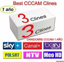 3 server CCcam 1 año.engel,qviar,talcom,orchid, todo decos,ENVIOS MISMO DIA!!!