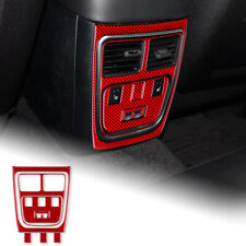 A Set Red Rear Center ConSole Sticker Carbon Fiber For Dodge Charger 2015-2020