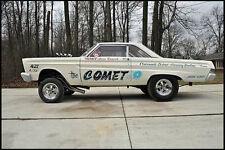 1965 Drag Racings Arnie Beswicks 65 Comet 1/25th scale model car decal