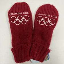 Vancouver 2010 Winter Olympics Adult Red Mittens Size S/M - New with Tag