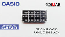 VINTAGE CASIO ORIGINAL PANEL/KEYBOARD COVER FOR CASIO C-801 BLACK
